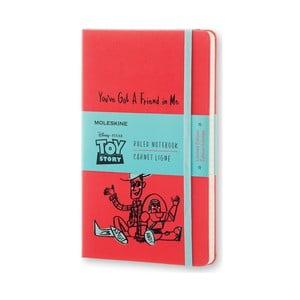 Veľký červený zápisník Moleskine Toy Story, linajkový