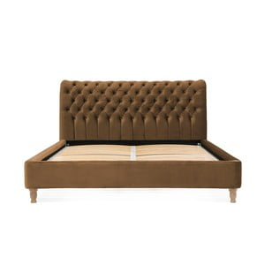 Hnědá postel z bukového dřeva Vivonita Allon, 160 x 200 cm
