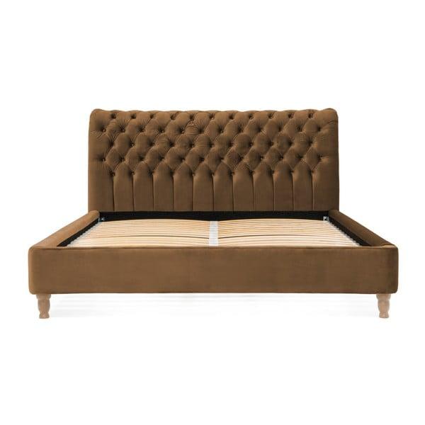 Hnedá posteľ z bukového dreva Vivonita Allon, 160 × 200 cm