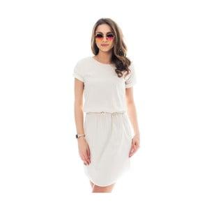 Krémové bavlnené šaty Lull Loungewear Palmera, veľ.S