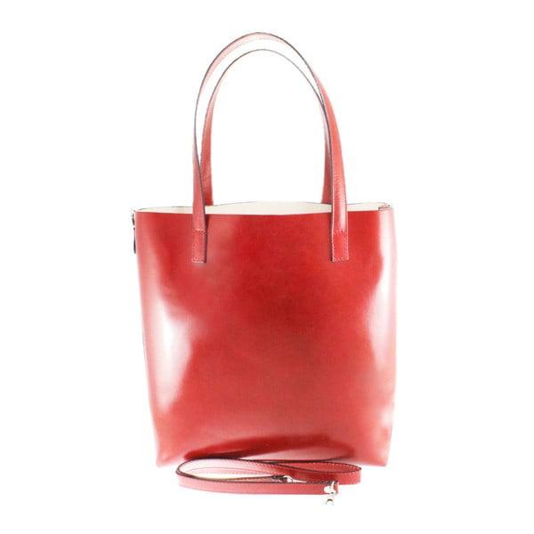 Červená kožená taška Greta