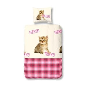 Obliečky Cat Sweet Pink, 140x200 cm