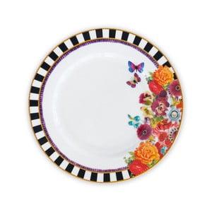 Porcelánový plytký tanier Melli Mello Stripe, 21cm