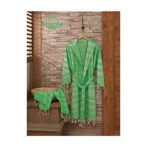 Set župana a uteráka Sultan Cagla Green, veľ. L/XL