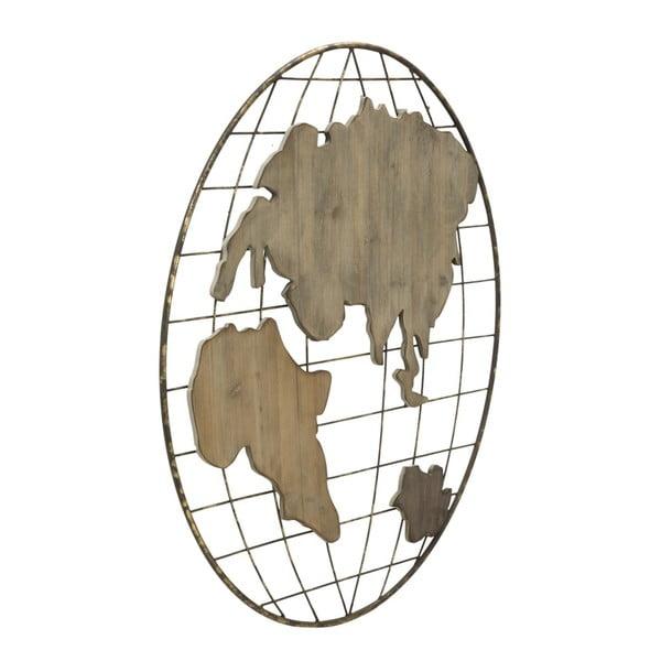 Nástenná dekorácia Mauro Ferretti Globe Map, ⌀88 cm