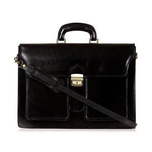 Čierna kožená taška cez rameno Italia in Progress Caravaggio