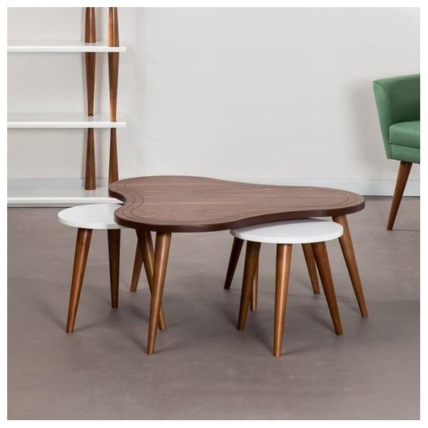 Konferenčný stolík so stoličkami Bubble Walnut