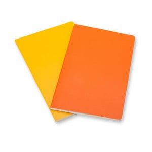 Sada 2 notesov Moleskine Orange, linkované 6,5x10,5 cm