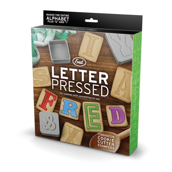 Sada abecedných razítok na sušienky Fred & Friends Letter Pressed