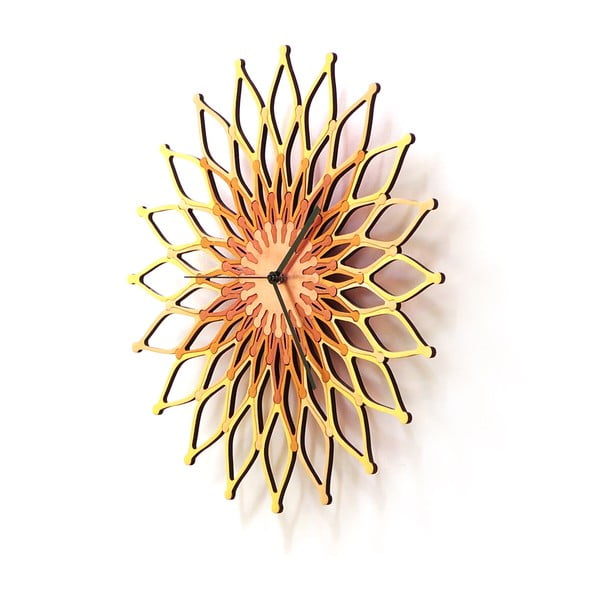 Drevené hodiny Fireworks II, 41 cm