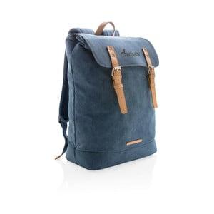 Modrý plátený batoh na notebook 15,6'' XD Collection , 19 l