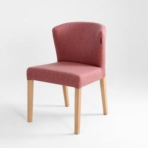 Ružová stolička s prírodnými nohami Custom Form Harvard