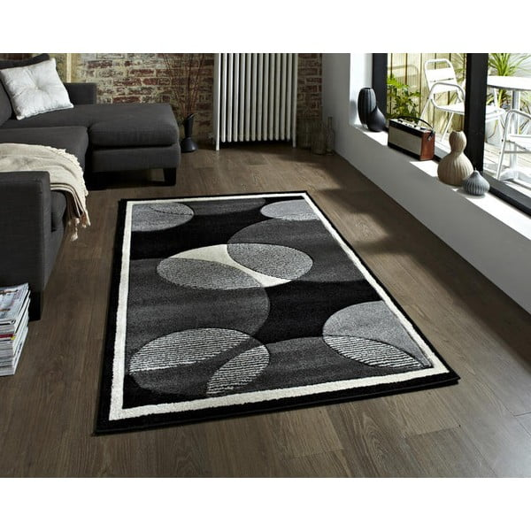 Sivý koberec Think Rugs Art Twist Grey, 120 x 170 cm