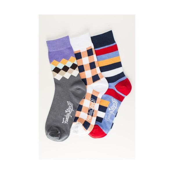 Tri páry ponožiek Funky Steps Halo, univerzálna veľkosť