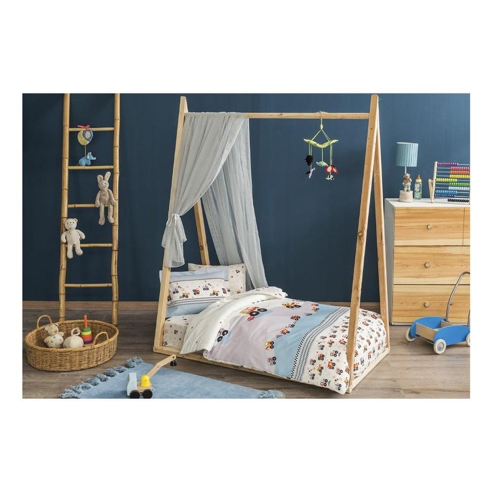 Detské obliečky s plachtou Sleep Well, 100 × 150 cm