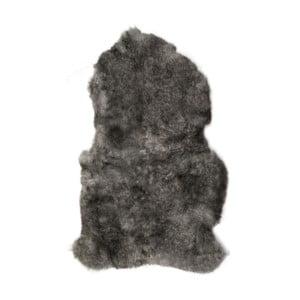 Sivá ovčia kožušina s krátkym vlasom Dark tops, 90 x 60 cm