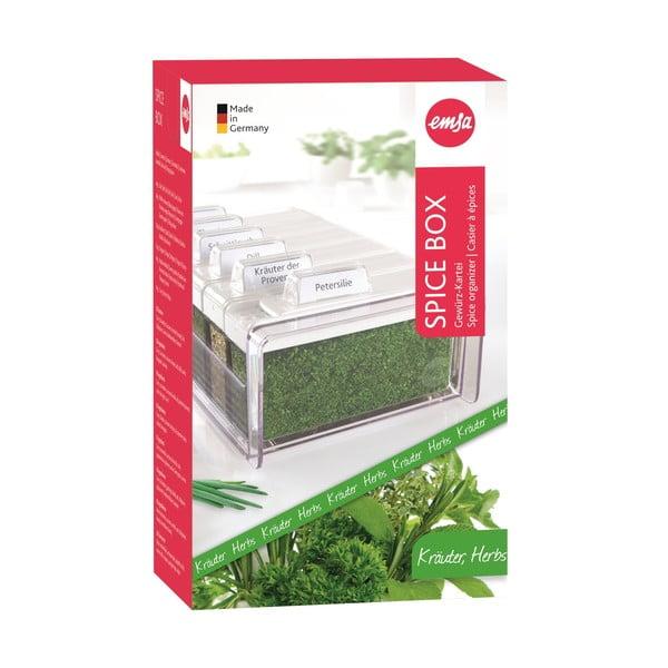 Box na korenie so 6 priehradkami Spice Box, na bylinky