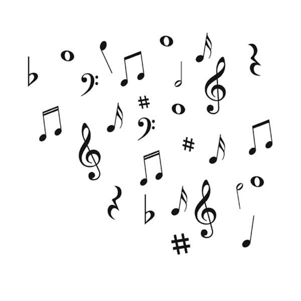Dekoratívna samolepka Music Notes