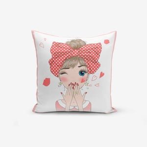 Obliečka na vankúš Minimalist Cushion Covers Cute Girl, 45 × 45 cm