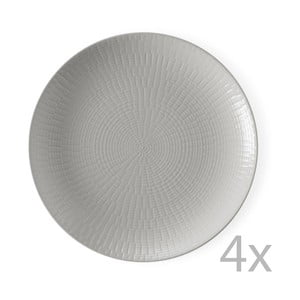 Sada 4 dezertných tanierov Granaglie Gris, 21 cm