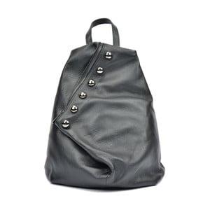 Čierny kožený batoh Luisa Vannino Simona