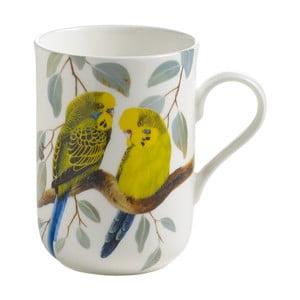 Hrnček z kostného porcelánu Maxwell & Williams Birds Budgerigars, 330 ml