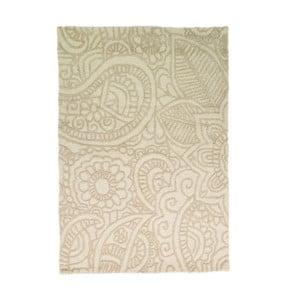 Vlnený koberec Mendhi 120 x 170 cm, prírodný