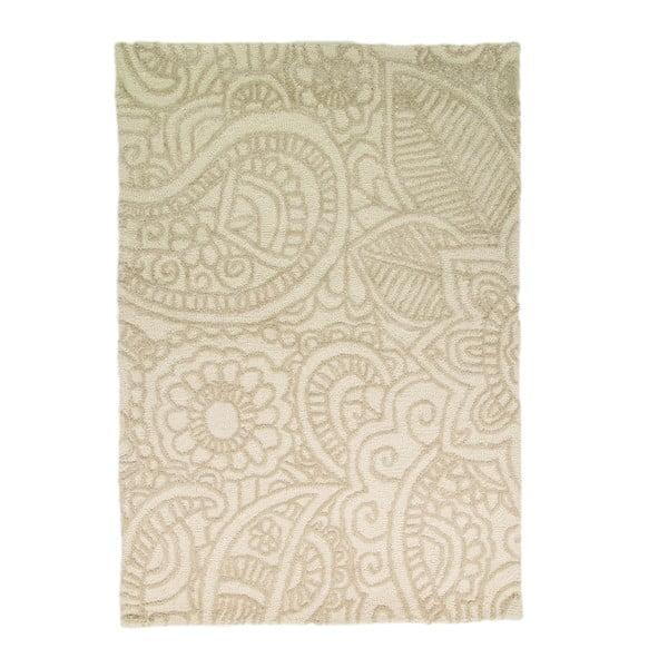 Vlnený koberec Mendhi 160 x 230 cm, prírodný