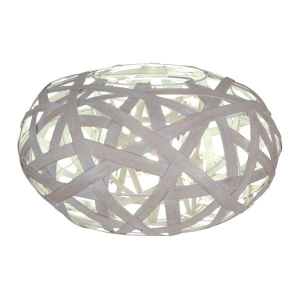 Sivá stolová lampa Naeve Korb
