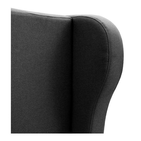 Čierna posteľ VIVONITA Windsor 160x200cm, čierne nohy