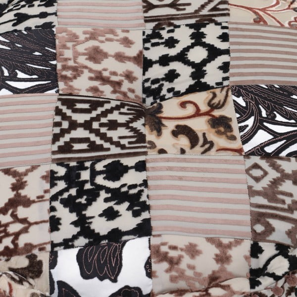 Puf Brown Patchwork