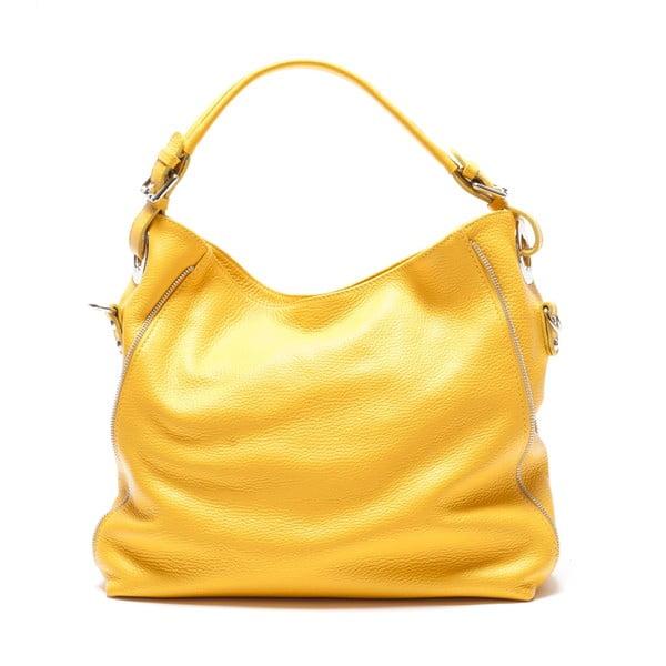 Kožená kabelka Mangotti 1139, žlutá