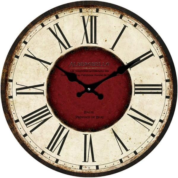 Sklenené hodiny Alberobello, 38 cm