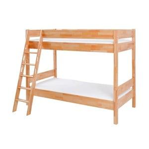 Detská poschodová posteľ z masívneho bukového dreva Mobi furniture Erik, 200×90cm