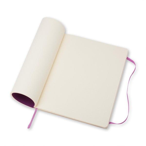 Extra veľký ružový zápisník Moleskine Hard, bodkované linky
