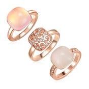 Sada 3 prsteňov s krištáľmi Swarovski Lilly & Chloe Christia, veľ. 56
