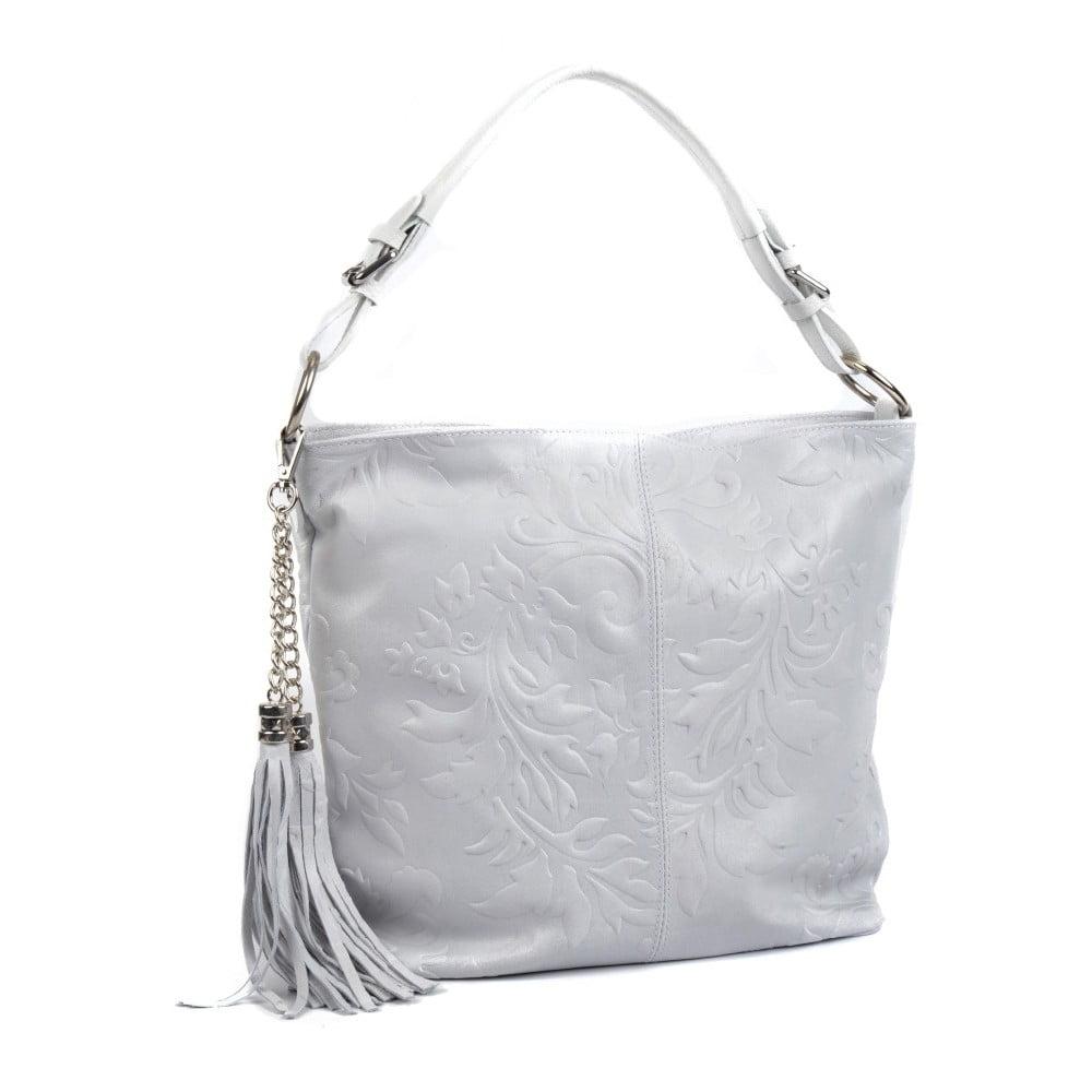 70c935bc57 ... Biela kožená kabelka so strapcami Isabella Rhea ...