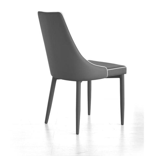 Jedálenská stolička Plana, sivá