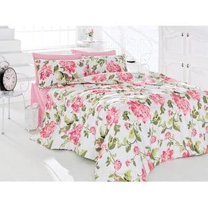 Obliečky s plachtou Flower Pink, 200x220 cm