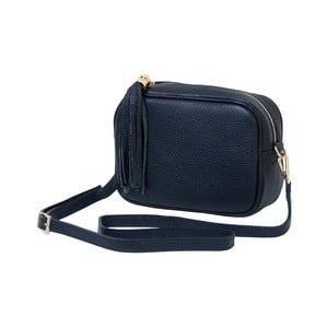 Tmavomodrá kabelka / listová kabelka z pravej kože Andrea Cardone Pezzo