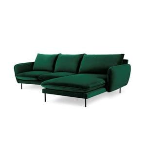 Zelená rohová pohovka Cosmopolitan Design Vienna, pravý roh