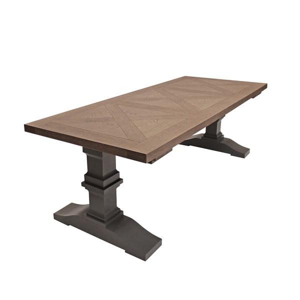 Sivý jedálenský stôl Canett Royal, 240 cm