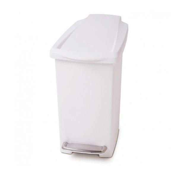 Biely pedálový kôš na odpadky simplehuman Gigi, 10 l