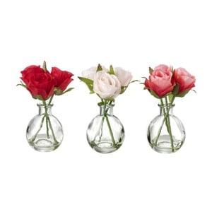 Sada 3 dekoratívnych kvetín Heaven Sends Rose Bunch