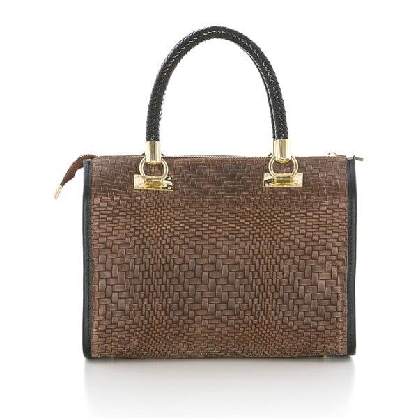 Hnedá kožená kabelka Federica Bassi Eos