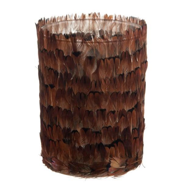 Váza/pohár J-Line Feathers, 12 cm