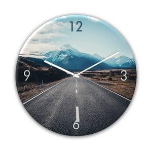 Sklenené nástenné hodiny Styler Way