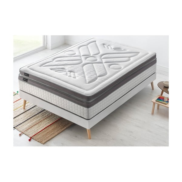 Set dvojlôžkovej postele, matraca a paplóna Bobochic Paris Bobo, 160×200 cm