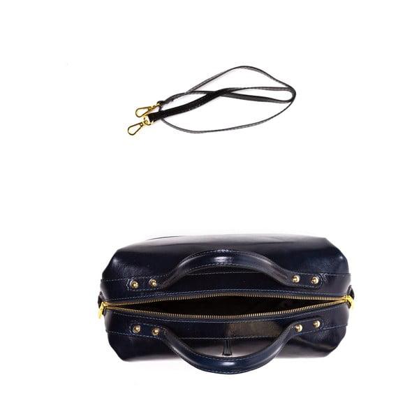 Kožená kabelka Anna Luchini 55 Blus Scuro