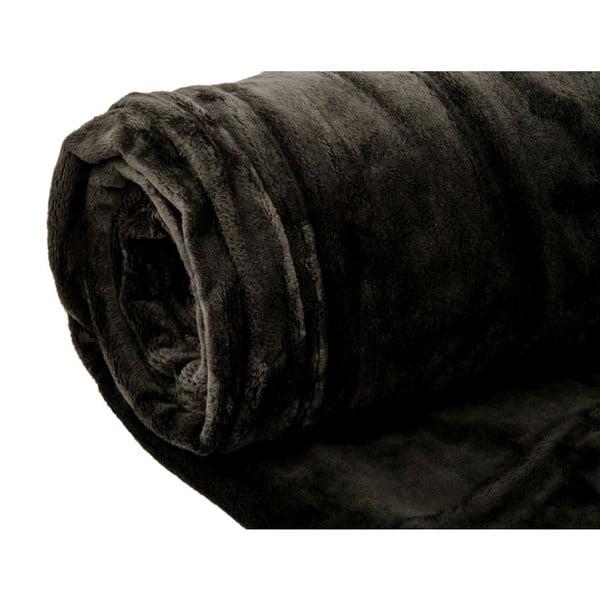 Pléd Supersoft Noir, 130x170 cm
